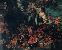 Ch.Berentz Flowers and fruits Oil on canvas 179x218,5 The Hermitage.St.Petersburg