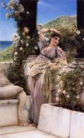 L.Alma-Tadema The best rose 1883 Oil on wood 37,5x23 Private collection.The Great Britain