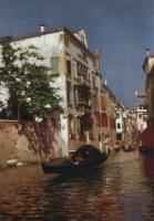 Rubens Santoro The canals of Venice Oil on canvas 101,9x73 Auction Sotheby's