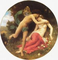 W.A.Bouguereau Flora and Zephyr 1875 Oil on canvas, diametr 184 Mulhouse. Museum of Fine Art. France.