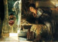 L.Alma-Tadema Welcome Footsteps 1883 Oil on canvas 41,9x54,6 Private collection