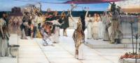 L.Alma-Tadema A Dedication to Bacchus 1889 Oil on canvas 77,5x177,2 Humburger Kunsthalle