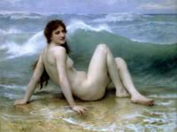 W.A.Bouguereau Wave 1896 Oil on canvas 160,5x121 Private collection.France.