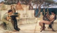 L.Alma-Tadema Sappho and Alcaeus 1881 Oil on canvas 122x66 The Walters Art Gallery,Baltimore