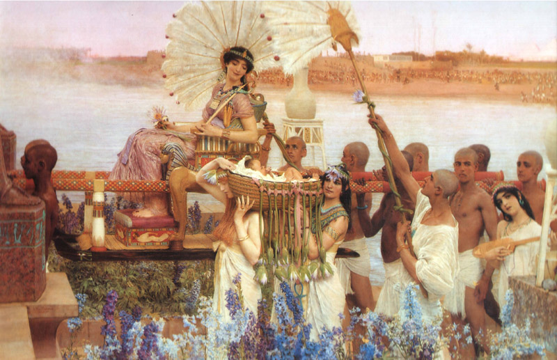 L.Alma-Tadema  The Finding of Moses Oil on canvas 137,5x213,4 Private collection