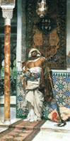 A.M.y.F.y.Costa Arab Sentinel 1879 Oil on canvas 164x84 Private collection