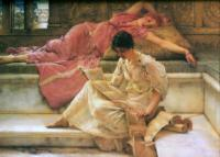 L.Alma-Tadema The Favourite poet 1888 Oil on panel 36,8x49,5 The Lady Lever Art Gallery, Port Sunlight