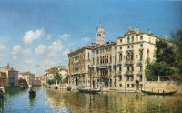 F.del Campo The grand canal,Venice 1890 Oil on canvas 46,4x73 Auction Christie's