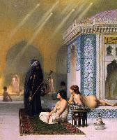 J.L.Gerome Pool in a Harem 1876 Oil on canvas 72,3x61,5 The Hermitage.St.Petersburg