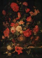 A.Mignon Flowers in vase Oil on canvas 87x68 The Hermitage.St.Petersburg
