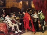 F.Roybet The Troubadours 1887 Oil on canvas 146x113 Private collection
