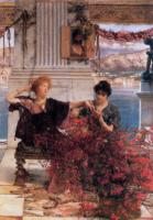 L.Alma-Tadema Love's Jewelled Fetter 1895 Oil on canvas 63,5x46,1 Private collection