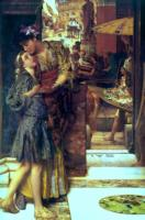 L.Alma-Tadema The Parting kiss 1882 Oil on panel 113x73,7 Private collection