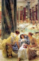 L.Alma-Tadema The Baths of Caracalla 1899 Oil on canvas 152,4x95,3 Private collection