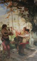 G.I.Siemiradsky A song of slave 1884 Oil on canvas 92x145 Art Museum of Serpukhov
